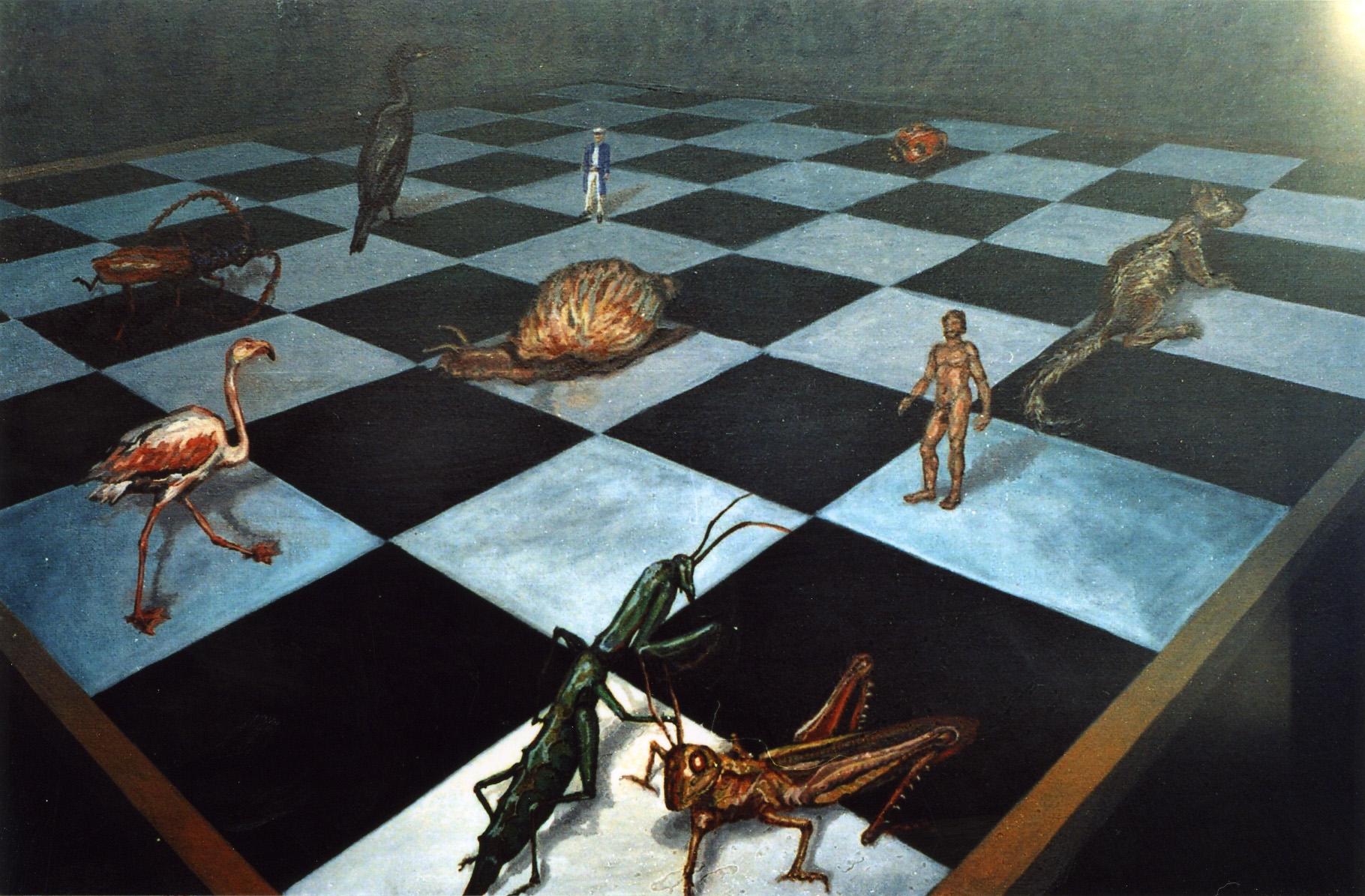 8.1.2 La partida de ajedrez. Óleo 50x61cm